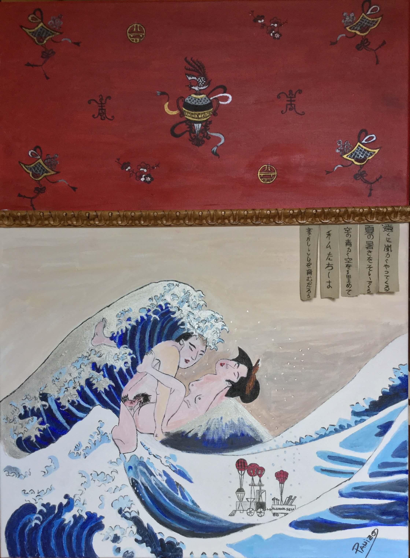 efervescencia en la gran ola Kanagawa