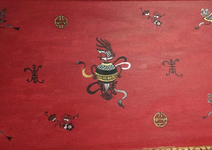 la gran ola Kanawaga-foto tapiz
