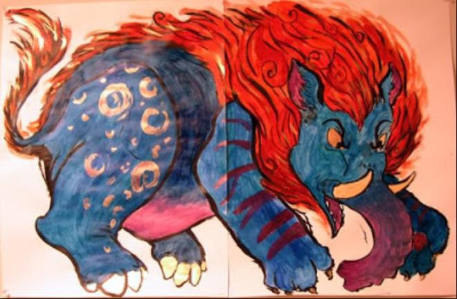 BAKU-criatura de la mitología japonesa