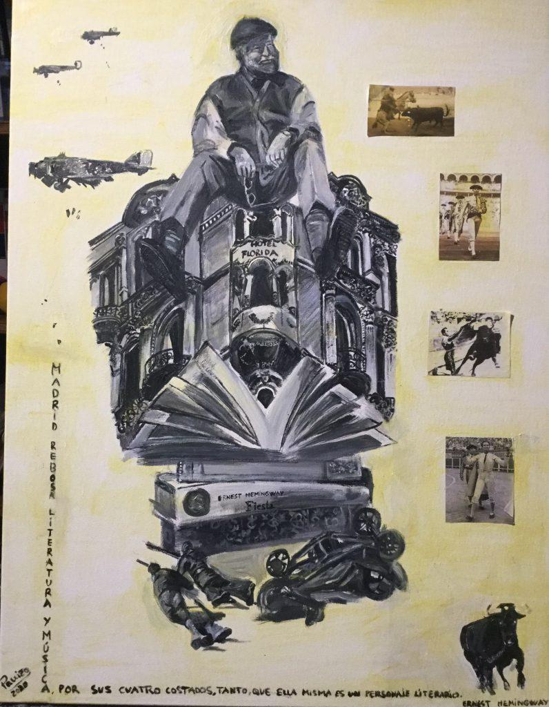 Hemingway,hemingwayenmadrid,artepanizo,isabelpanizodelvalle,madridnuestro