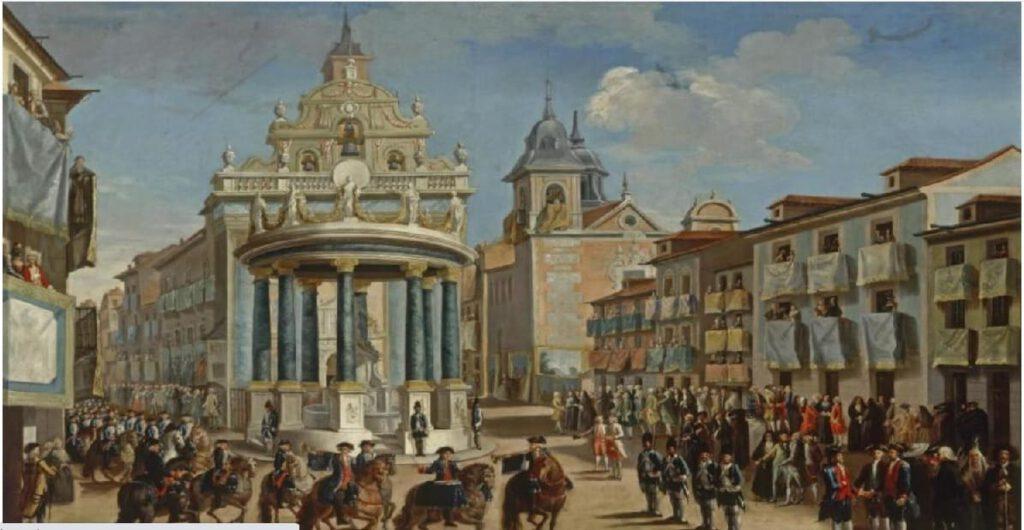 Entrada triunfal de Carlos III a MAdrid en la Puerta del Sol